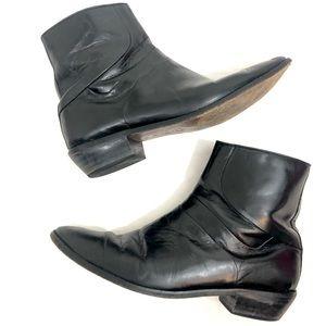 David Taylor Mens Leather Ankle Boots Black 10 D